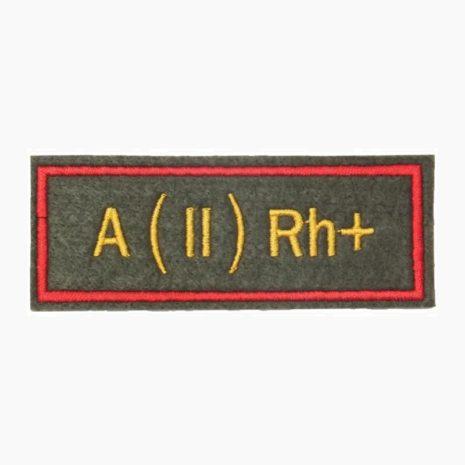 Нашивка группа крови A(II) Rh+ офисная