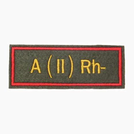 Нашивка группа крови A(II) Rh- офисная