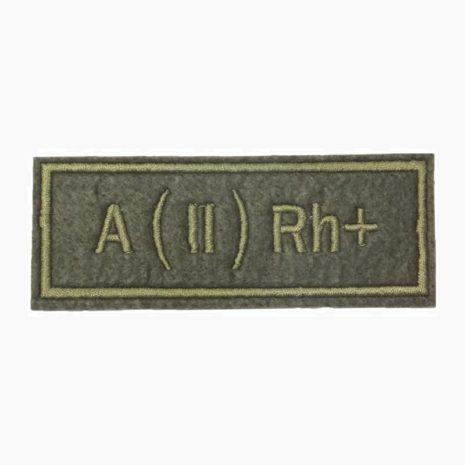 Нашивка группа крови A(II) Rh+ полевая