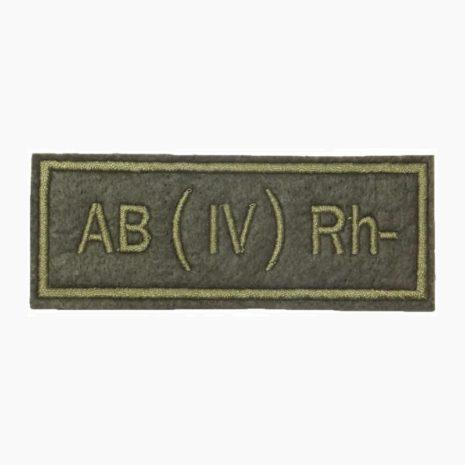 Нашивка группа крови AB(IV) Rh- полевая