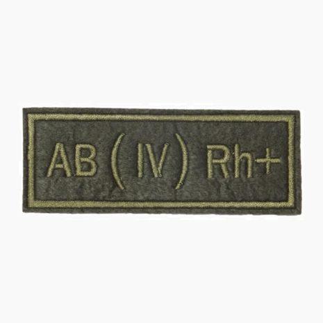 Нашивка группа крови AB(IV) Rh+ полевая