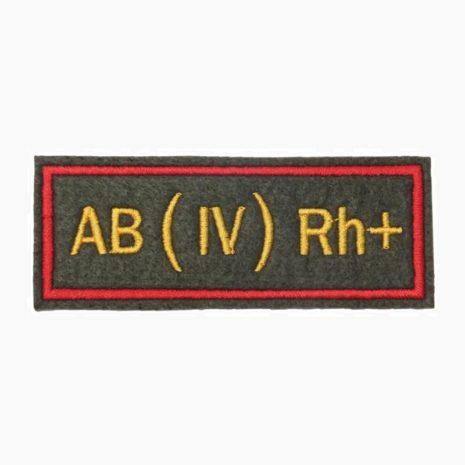 Нашивка группа крови AB(IV) Rh+ офисная