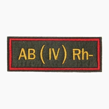 Нашивка группа крови AB(IV) Rh- офисная