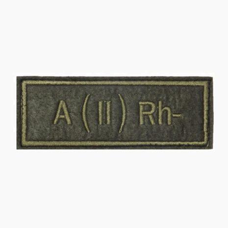 Нашивка группа крови A(II) Rh- полевая